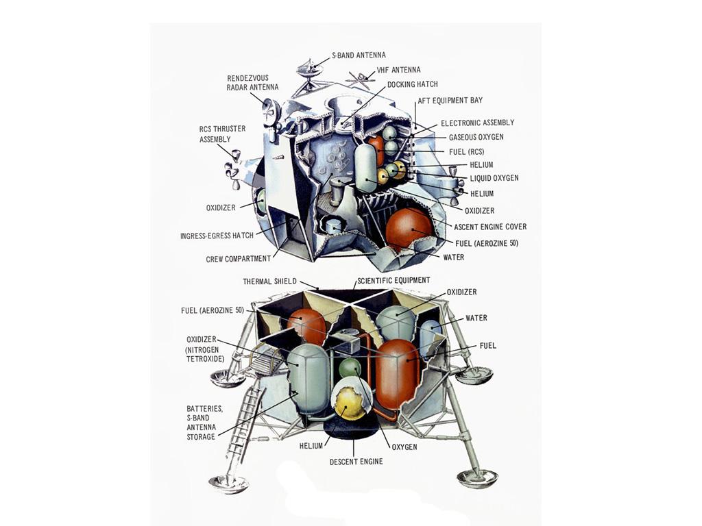 moon landing modules cutaway-#15